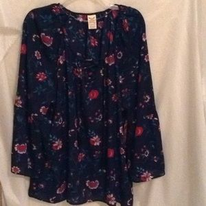 Faded Glory Floral Boho Chic Top